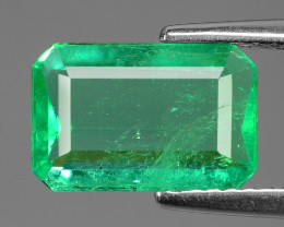 2.17 Cts NATURAL EARTH MINED GREEN COLOR COLOMBIAN EMERALD LOOSE GEMSTONE