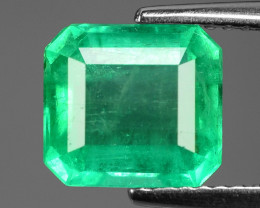 2.31 Cts NATURAL EARTH MINED GREEN COLOR COLOMBIAN EMERALD LOOSE GEMSTONE