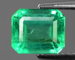 1.86 Cts NATURAL EARTH MINED GREEN COLOR COLOMBIAN EMERALD LOOSE GEMSTONE