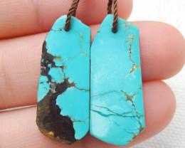 21cts Handmade Earrings ,Gemstone Earrings ,Natural Turquoise Earrings E126