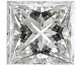 0.10 Carat Princess Cut Diamond (G/SI) - 2.50 mm