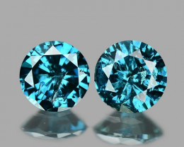 0.40  Cts Sparkling Rare Fancy Blue Natural Diamond Pairs