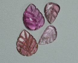 4.30 CRT BEAUTY CARVING LEAF TOURMALINE PARCELS-