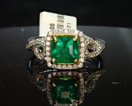 1.32ct Emerald Ring