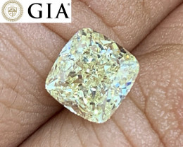 2.00 ct GIA Certified Diamond - VS2 - Light Yellow - Cushion $13,500