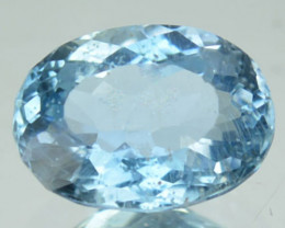 1.06 Cts Natural Santa maria Blue Aquamarine Oval Cut Brazil