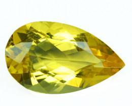 2.86 Cts Natural Heliodor Beryl Golden Yellow 13.5x8mm Pear Cut Brazil