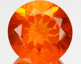 ~GORGEOUS~ 1.56 Cts Natural Mexican Orange Fire Opal 8.5mm Round