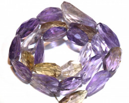 163 CTS  AMETRINE  BEAD STRAND 12 INCHES    NP -59