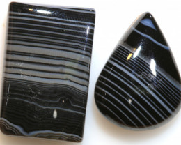 40 CTS BLACK AND WHITE BANDED AGATE NP-873