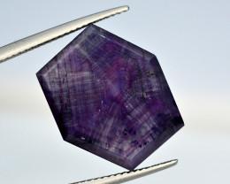 Rarest 17.55 Ct Corundum Sapphire Trapiche From Kashmir Valley
