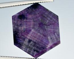 Rarest 16.95 Ct Corundum Sapphire Trapiche From Kashmir Valley