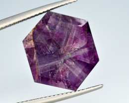 Rarest 14.10 Ct Corundum Sapphire Trapiche From Kashmir Valley