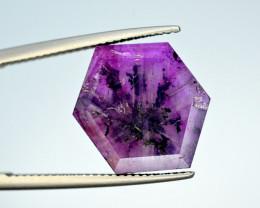 Rarest 10.05 Ct Corundum Sapphire Trapiche From Kashmir Valley
