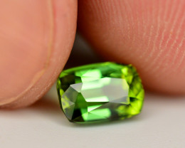 Brilliant Color 1.15 Ct Lagoon Green Tourmaline From Afghanistan. ARA1