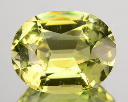 7.81 Cts Natural Canary Yellow Tourmaline Oval Mozambique