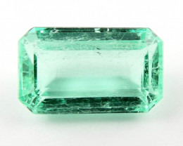 Certified 1.39ct Natural Colombian Emerald Loose Gemstone No Reserve Auctio