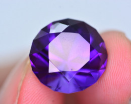13.90 CT Natural Gorgeous Color Fancy Cut Amethyst T