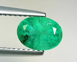 1.20ct AAA Grade Gem Excellent Oval Cut Top Green Natural Emerald