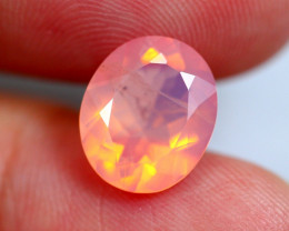 2.43cts RARE Natural Namibian Pink Faceted Opal / BIN229