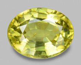 3.05 Cts Very Rare Yellowish Green Color Natural Chrysoberyl Gemstones