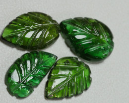 5.15CRT BEAUTY GREEN TOURMALINE LEAF PARCELS-