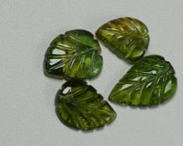 8.45CRT BEAUTY CARVING LEAF TOURMALINE PARCELS-