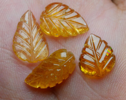 7.90CRT BEAUTY CARVING LEAF TOURMALINE PARCELS-
