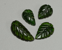 6.15CRT LEAF CARVING PAIR TOURMALINE PARCELS-