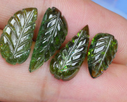 11.65 CRT BEAUTY CARVING GREEN TOURMALINE PARCEL-