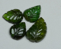9.75CRT BEAUTY CARVING GREEN TORMALINE PARCEL-