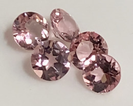 5 Piece Premium Pink Tourmaline Parcel 4.00mm Flawless quality