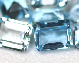Blue Topaz 21.36Ct 10Pcs Natural VVS Brazilian Blue Topaz Lot 14AF292
