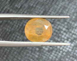 GFCO Certified 4.36 Carats Yellow Sapphire Gemstones
