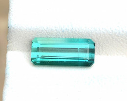 2.35 Ct Natural Blueish Transparent Tourmaline Ring Size Gemstone