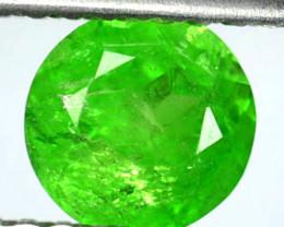 Radium Green!!! 0.86 Cts Natural Grossular Garnet 5.5mm Round Russia