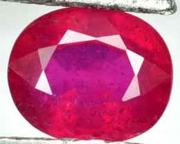 1.58 Cts Pigeon Blood Red Ruby Composite  Oval Cut Mozambique