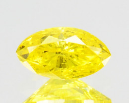 0.08 Cts Natural Diamond Golden Yellow Marquise Cut Africa