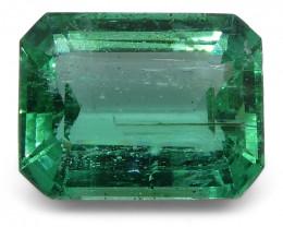 4.06 ct Emerald Cut Emerald IGI Certified Zambian with Inscription