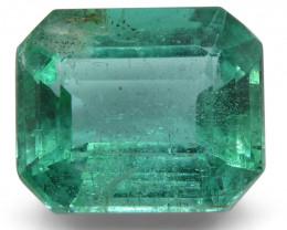 4.49 ct Emerald Cut Emerald IGI Certified Zambian with Inscription