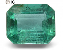 4.49 ct Emerald Cut Emerald IGI Certified Zambian with Inscription
