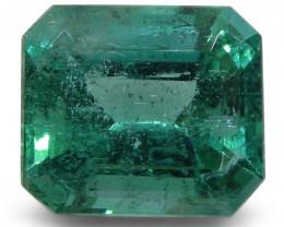 5.63 ct Emerald Cut Emerald IGI Certified Zambian with Inscription