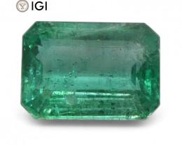 5.29 ct Emerald Cut Emerald IGI Certified Zambian with Inscription