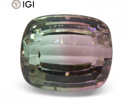 28.78 ct Cushion Tourmaline IGI Certified Parti-Colored