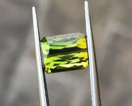 2 Ct Natural Yellowish Green Transparent Tourmaline Gemstone