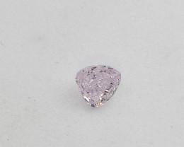 0.095ct   Fancy Light  Pink  Diamond , 100% Natural Untreated
