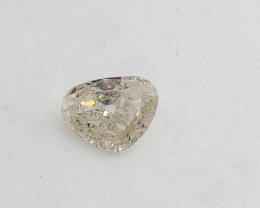0.27ct White  Diamond , 100% Natural Untreate