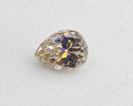 0.43ct  Light  Brown  Diamond , 100% Natural Untreated