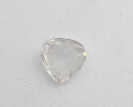 0.37ct Fancy White  Diamond , 100% Natural Untreate