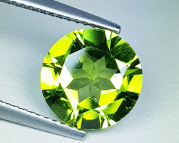 3.52 ct Excellent Gem Awesome Round Cut Top Luster Natural Peridot